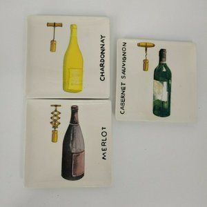 ND exclusive wine cheese snacks plates set of 3